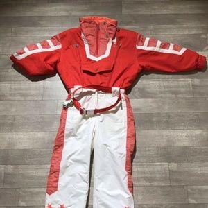 Vtg Tyrolia by Head Stars Stripes ski suit size 8
